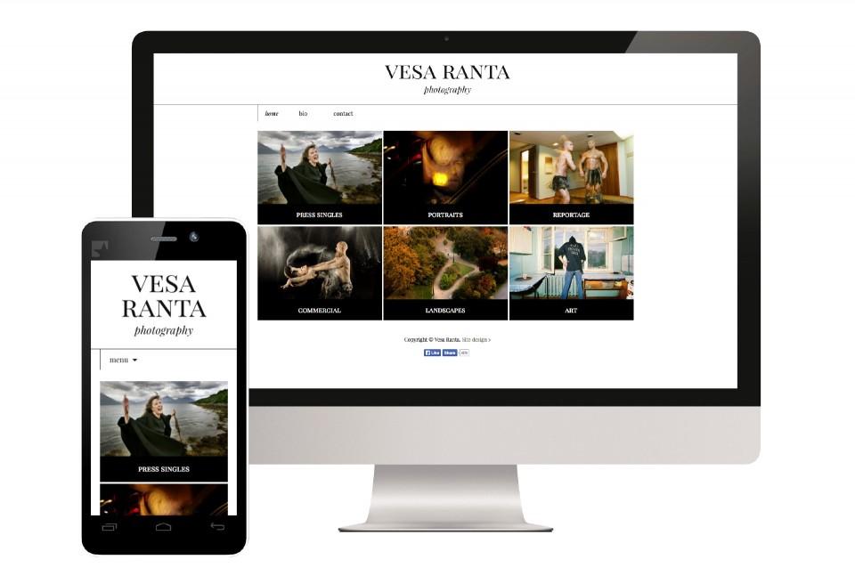 Vesa Ranta Photography, suunnittelu Viisaampi markkinointi